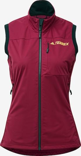 ADIDAS PERFORMANCE Sportbodywarmer 'Terrax' in de kleur Geel / Robijnrood / Zwart, Productweergave