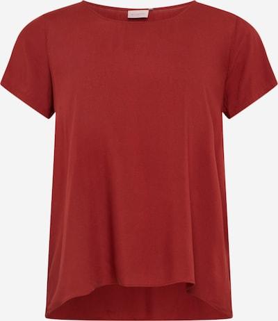 Maglietta ONLY Carmakoma di colore rosso pastello: Vista frontale