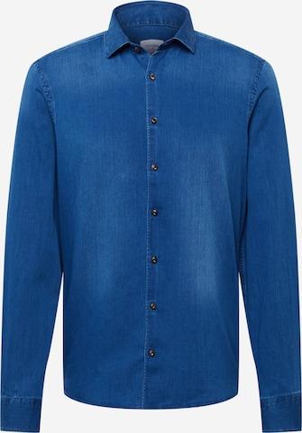 Camicia 'Level 5' di OLYMP in blu