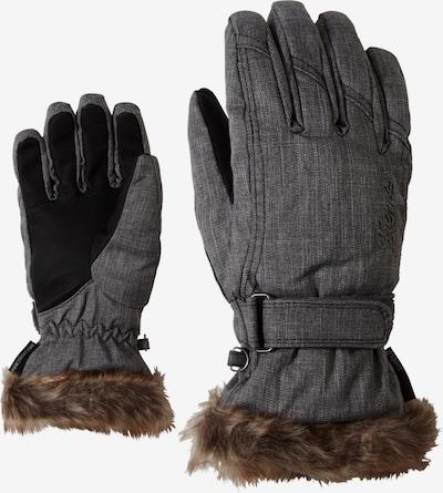 ZIENER Skihandschuhe 'KIM' in braun / grau, Produktansicht