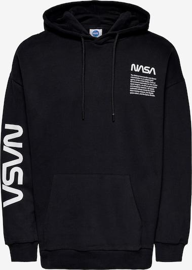 Only & Sons Sweatshirt 'Nasa' in schwarz / weiß, Produktansicht