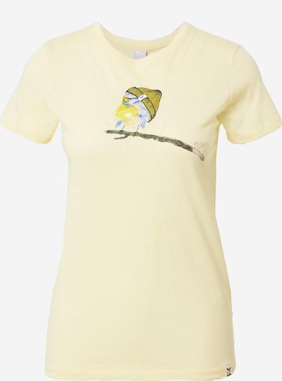 Iriedaily T-Shirt 'It Birdy' in hellblau / senf / limone, Produktansicht