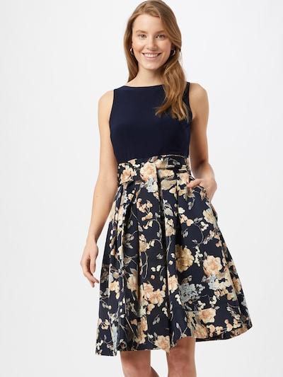 Lauren Ralph Lauren Kleid 'YUKO' in champagner / navy / hellblau / flieder, Modelansicht