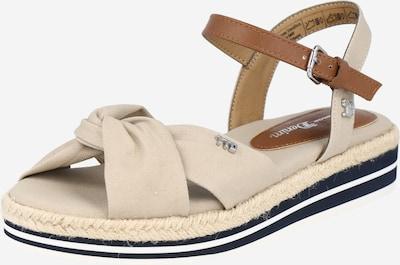 TOM TAILOR DENIM Sandale in beige / karamell, Produktansicht