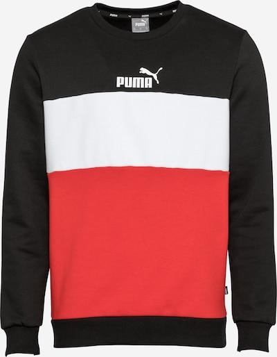PUMA Sportsweatshirt in rot / schwarz / weiß, Produktansicht