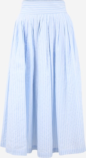 Fustă Y.A.S Tall pe albastru deschis / alb, Vizualizare produs