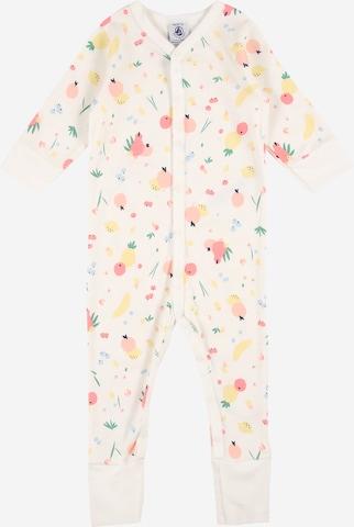 PETIT BATEAU Schlafanzug 'DORS BIEN' in Weiß