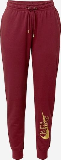 Nike Sportswear Püksid kollane / veinipunane, Tootevaade