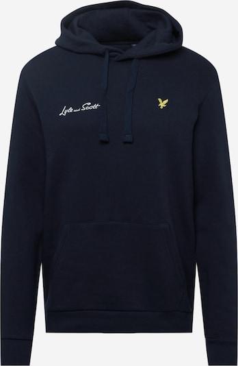 Lyle & Scott Trui in de kleur Navy / Limoen / Wit, Productweergave