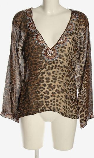 Amor & Psyche Transparenz-Bluse in M in braun / wollweiß, Produktansicht