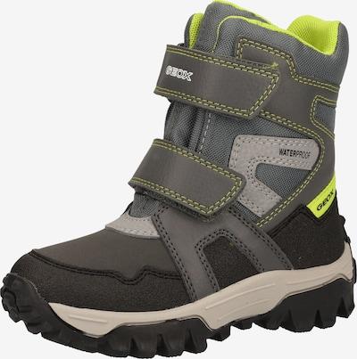 GEOX Stiefel in neongelb / grau / stone / dunkelgrau, Produktansicht