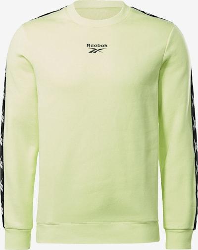 Reebok Sport Športová mikina - neónovo žltá / čierna, Produkt