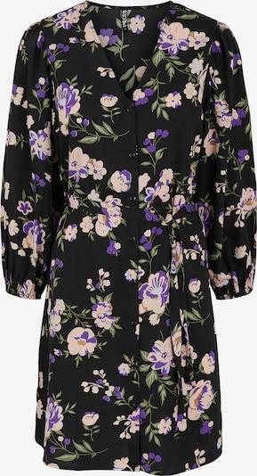 PIECES Robe-chemise 'Krissie' en mélange de couleurs / noir, Vue avec produit