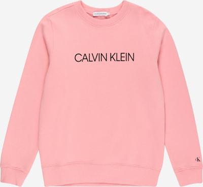Calvin Klein Jeans Суичър 'INSTITUTIONAL' в бледорозово / черно: Изглед отпред