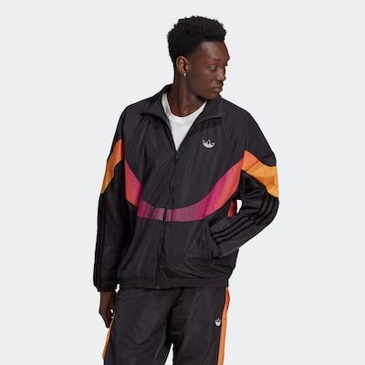 ADIDAS ORIGINALS Prehodna jakna | rumena / oranžna / roza / črna barva: Frontalni pogled