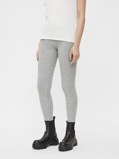 PIECES Leggings en gris clair, Vue avec modèle