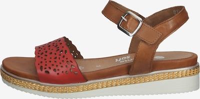 REMONTE Sandale in hellbraun / dunkelrot, Produktansicht