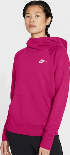 Nike Sportswear Sweatshirt in fuchsia / weiß, Produktansicht