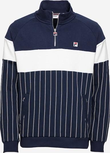 FILA Sweat-shirt 'HOWE' en bleu marine / blanc, Vue avec produit
