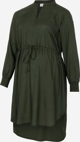 MAMALICIOUS Shirt Dress 'Zion' in Green