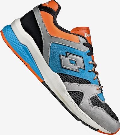 LOTTO Sneaker in hellblau / orange / schwarz / silber / weiß, Produktansicht