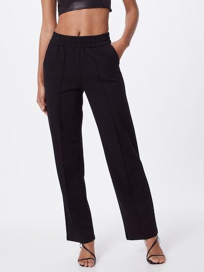 Pantaloni cu dungă 'Poptrash' ONLY pe negru, Vizualizare model