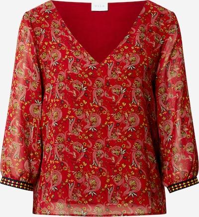 VILA Bluzka 'VIELOISE' w kolorze żółty / rdzawoczerwony / czarny / białym, Podgląd produktu