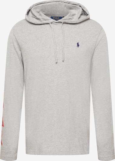 Tricou Polo Ralph Lauren pe bleumarin / gri deschis / roșu rodie, Vizualizare produs