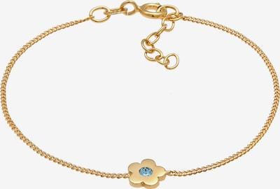 ELLI Armband Blume in türkis / gold, Produktansicht