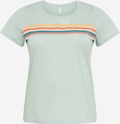 Only Play Curvy Shirt in hellgrau / petrol / orange / rosa / altrosa, Produktansicht