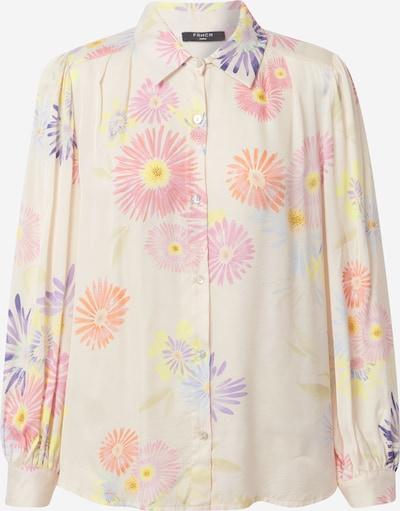 FRNCH PARIS Bluse in creme / hellblau / mischfarben / koralle / hellpink, Produktansicht