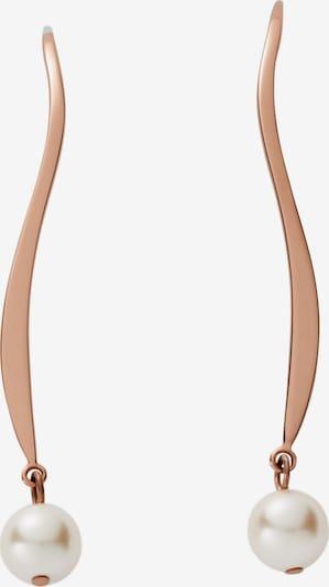 SKAGEN Ohrringe in rosegold / silber / perlweiß, Produktansicht