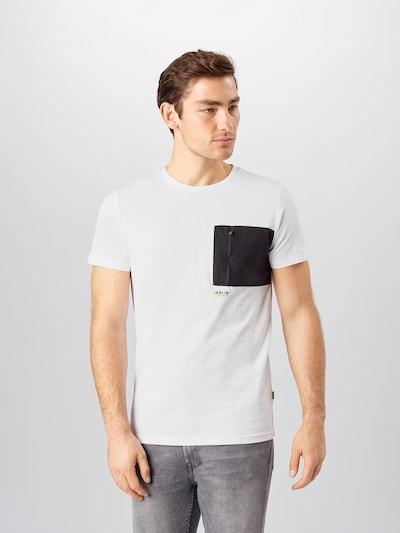 !Solid Tričko 'Maik' - černá / bílá: Pohled zepředu