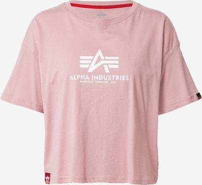 ALPHA INDUSTRIES Тениска в светлорозово / бяло, Преглед на продукта