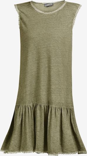 DreiMaster Vintage Leinenkleid in grün, Produktansicht