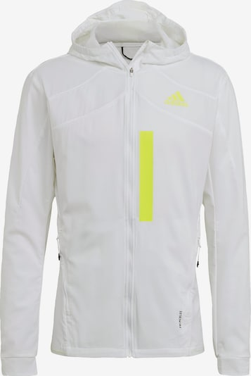 ADIDAS PERFORMANCE Sportjacke in neongelb / weiß, Produktansicht