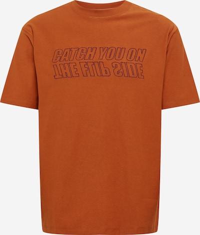 SCOTCH & SODA T-Shirt in cognac / dunkellila, Produktansicht