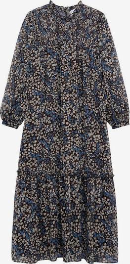 MANGO Košeľové šaty 'Fancy' - nebesky modrá / čierna / biela, Produkt