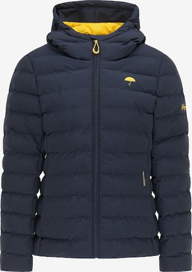Schmuddelwedda Winterjacke in navy / gelb, Produktansicht