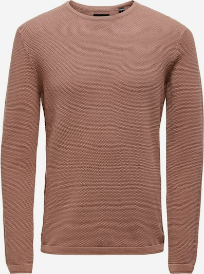 Only & Sons Sweater in beige / light brown / light red, Item view