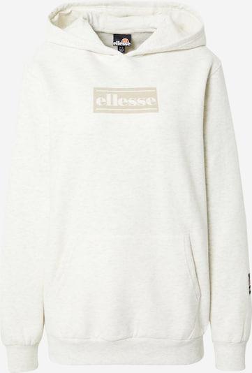ELLESSE Sweatshirt 'Carli' in dunkelbeige / weißmeliert, Produktansicht