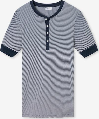 SCHIESSER REVIVAL T-Shirt in blau / weiß, Produktansicht