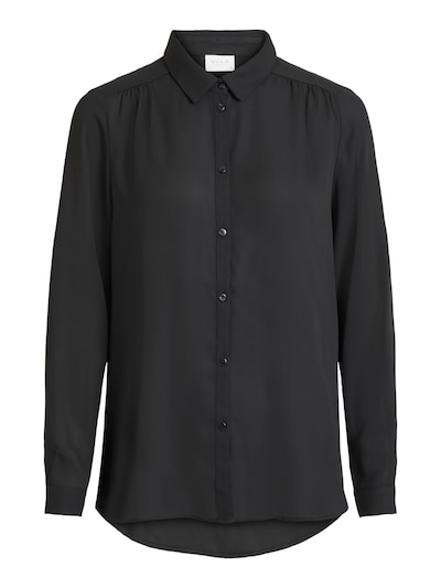 VILA Hemd in schwarz: Frontalansicht