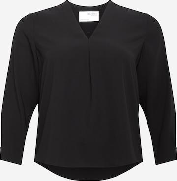 Selected Femme Curve Bluse in Black