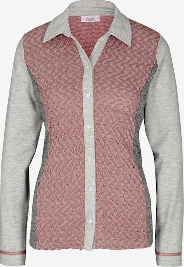 heine T-shirt en gris chiné / rose, Vue avec produit