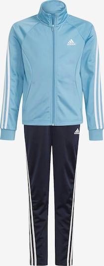 ADIDAS PERFORMANCE Trainingsanzug in nachtblau / hellblau / weiß, Produktansicht