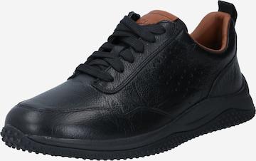 melns CLARKS Sporta apavi ar šņorēm 'Puxton'