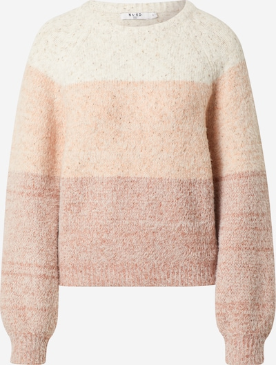 NA-KD Trui 'Fluffy Multi Color Knitted Sweater' in de kleur Pink, Productweergave