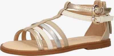 GEOX Sandale 'Karly' in beige / gold / silber, Produktansicht