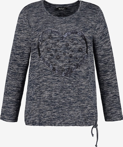 Ulla Popken Sweatshirt in grau: Frontalansicht